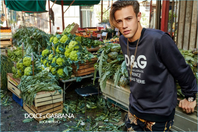 Cameron Dallas 2017 Dolce Gabbana Fall Winter Campaign