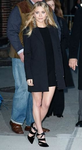 El look de Ashley Olsen en el Show de David Letterman