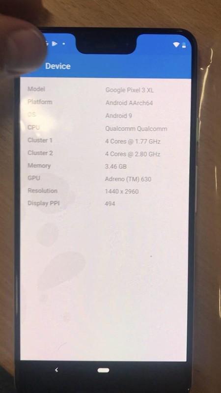Google Pixel 3 Xl Blanco Especificaciones