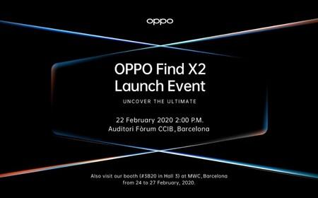 OPPO confirma que el OPPO Find X2 será presentado el 22 de febrero en Barcelona