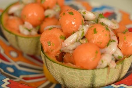 Ensalada Melon Gambas