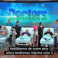 Trillizas embarazadas se hacen una ecografía en directo para saber cuántos bebés tendrán