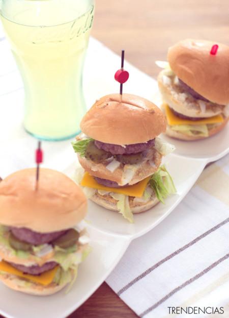 Mini hamburguesas Big Mac. Receta de aperitivo
