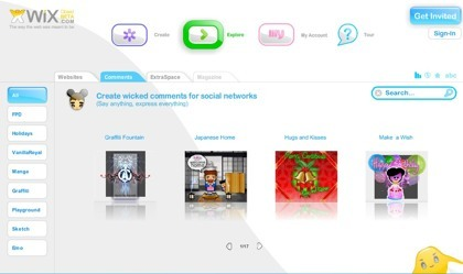 Wix, creando contenidos flash en minutos a través de Internet