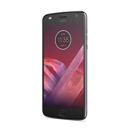Moto Z2 Play Frontangle Lunargray
