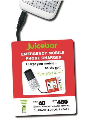 Juicebar, batería extra para tu móvil