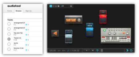 Audiotool, un estudio de mezclas en la nube