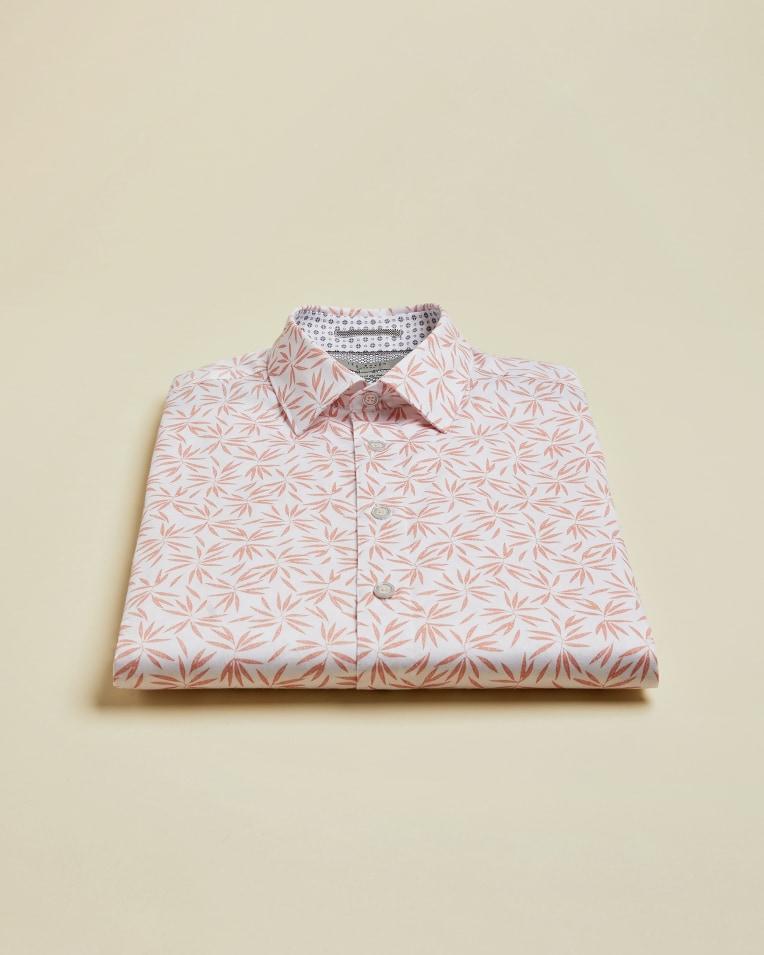 Camisa en manga corta de estampado botánico modelo Krosa*
