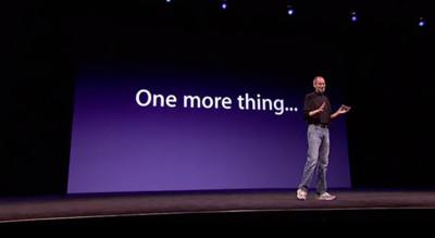 One more thing... Control por gestos en tres dimensiones, clonado de discos y más
