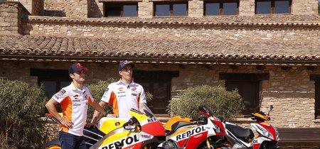 ¿Qué diferencia hay entre una MotoGP, una CBR1000RR y un scooter? Márquez y Pedrosa te lo cuentan