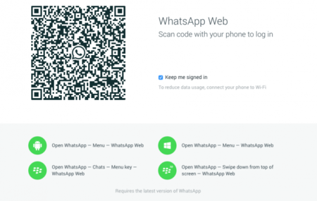 La versión web de WhatsApp, ya disponible