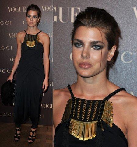 Carlotta Casiraghi Gucci negro