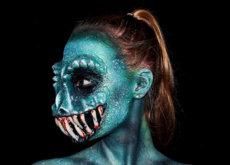 Sólo tiene 16 años y es capaz de crear inquietantes monstruos con bodypainting
