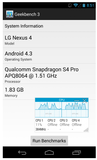 Samsung Galaxy Note 3 benchmarks