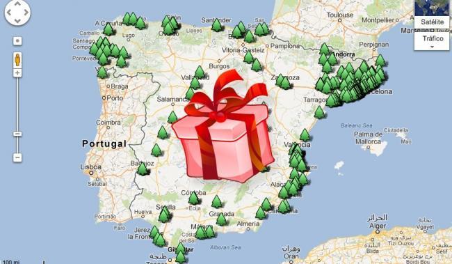 Dónde donar juguetes Mapa