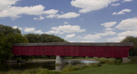 Covered Bridge West Montrose Ontario Canada