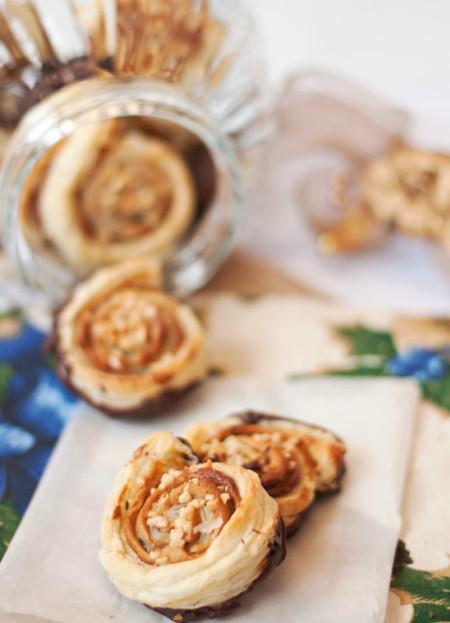 Espirales de chocolate y turrón de La Cocina de Tesa