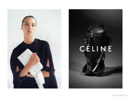Daria Werbowy vuelve como imagen de Céline Resort 2015. Si algo va bien, ¿para qué cambiarlo?
