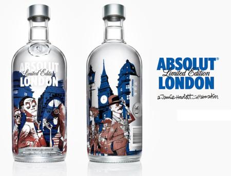Absolut London edición limitada, diseñada por Jamie Hewlett