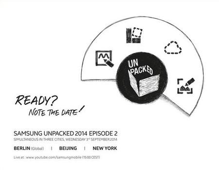 Las invitaciones para el Samsung UNPACKED del IFA son enviadas, conoceremos al Galaxy Note 4