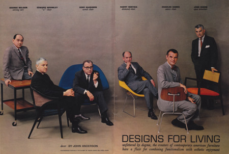 Mid Century Modern Furniture Designers In Playboy July 1961