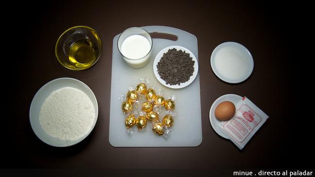 Magdalenas de chocolate - ingredientes
