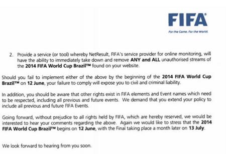 La FIFA a las webs de streaming: elimina los enlaces o atente a las consecuencias