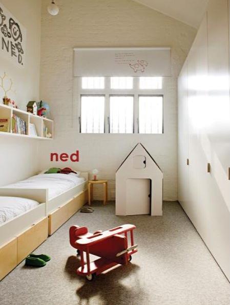 El dormitorio de Ned.