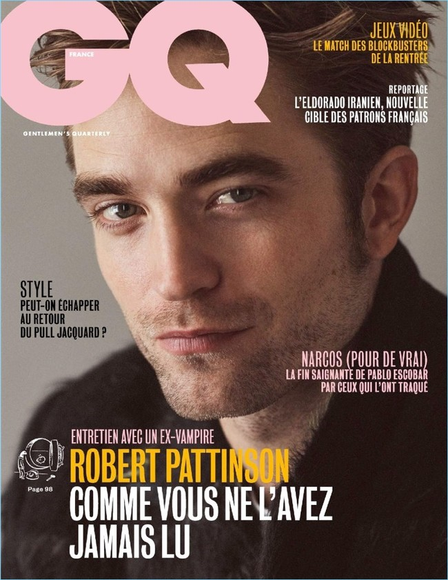 Robert Pattinson 2017 Gq France Cover