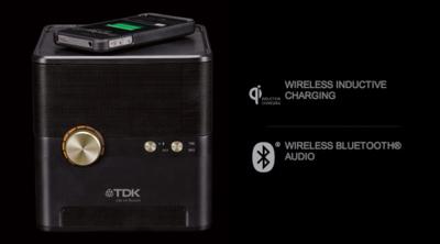 Q35, altavoz inalámbrico y base de carga inductiva de TDK