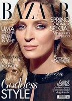 Uma Thurman es la portada de Harper's Bazaar UK