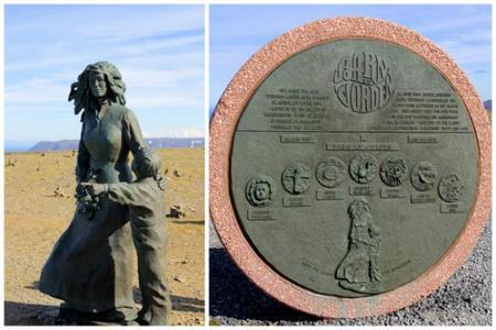 El Monumento a los niños del mundo en Cabo Norte, Noruega