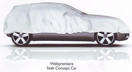 Teaser del Saab 9-1 antes de su presentación en el Salón de Ginebra 2008