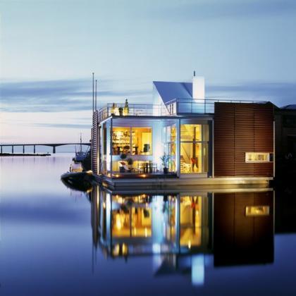 Una villa flotante