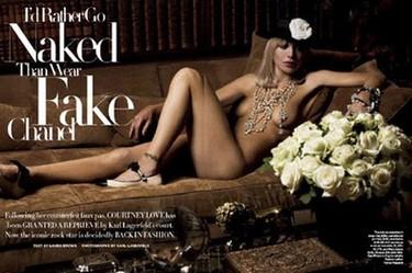 Courtney Love prefiere ir desnuda...