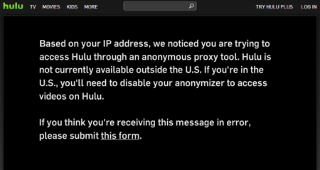 Hulu bloquea a los usuarios que se conectan a través de una VPN