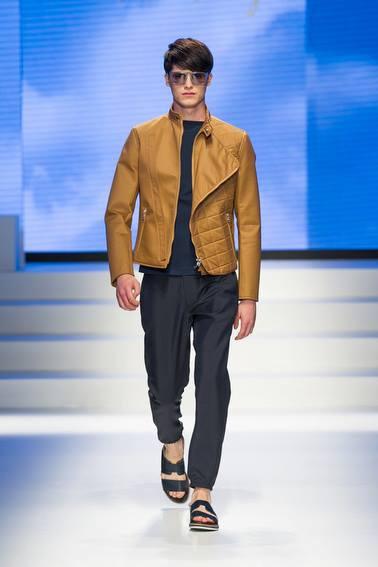 chaqueta acolchada Salvatore Ferragamo SS 2014