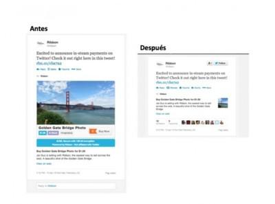 Twitter veta el pago a través de las Cards propuesto por Ribbon