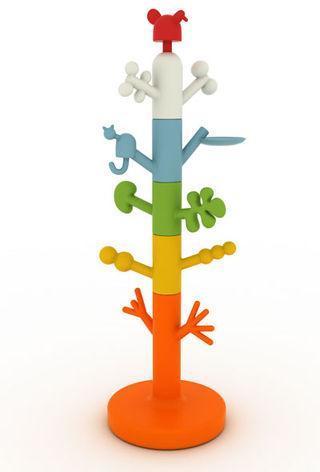Coat Tree, original y colorido perchero