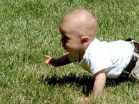 El bebé comienza a gatear cuando está preparado para sortear obstáculos
