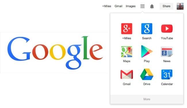 google logotipo barra navegación