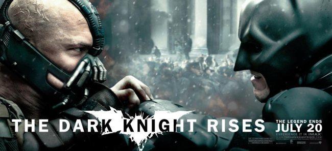Un cartel con el duelo protagonizado por Bane (Tom Hardy) y Batman (Christian Bale)