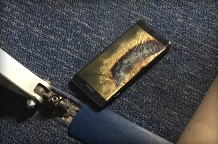 Galaxy Note 7 Incidente Avion