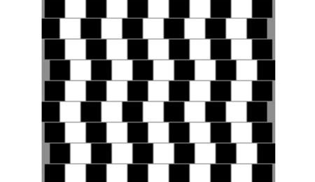 Ilusión de la pared de café