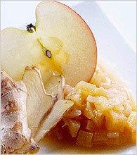 Chutney de cebolla, manzana y pasas
