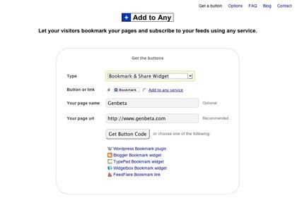 Add to Any, nueva botonera para las suscripciones y marcadores sociales en sitios web
