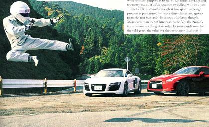 Top Gear enfrenta al Audi R8 con el Nissan GT-R en Japón