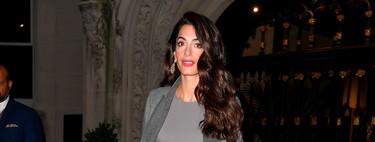 Amal Clooney, muy estilosa, nos enseña que los looks monocromáticos son los más cool de la temporada