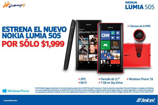 Nokia Lumia 505 con precio renovado en México