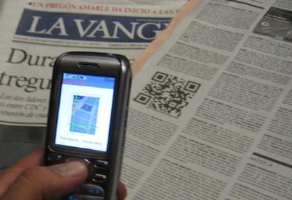 Primer QR-Code en prensa española
